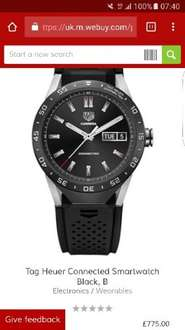Tag Heuer Connected Smartwatch  in black £775 + £2.50 delivery @ CeX