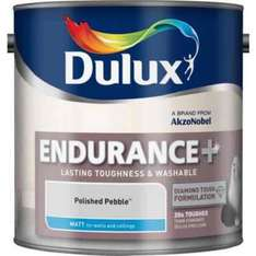 Dulux Endurance emulsion paint 2.5l £17 @ Homebase - Choice of 41 colours