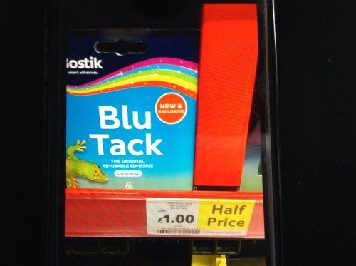 Blu tack and glu dots combi pack half price @ £1 Tesco Southampton