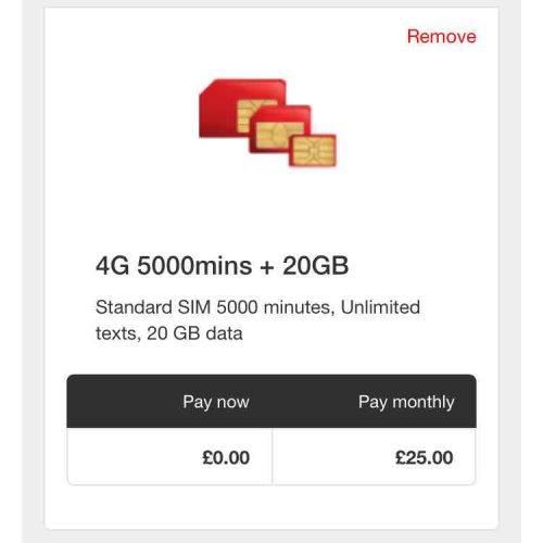 Virgin Mobile Sim Only £25