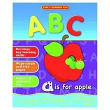 Childrens Practising Writing Books - Lets learn ABC or 123 - wipe clean, pen included 99p Argos