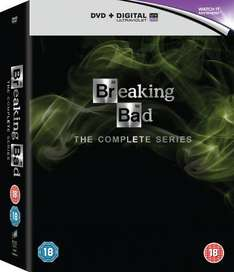 Breaking Bad: The Complete Series DVD box set (with UltraViolet Copy) £25.16 @ Zoom + free Better Call Saul season 1 DVD