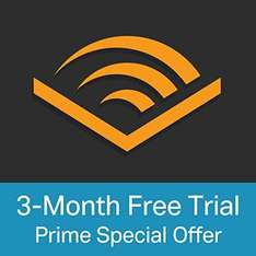 Audible 3 month free trial at Amazon - Exclusive to prime members