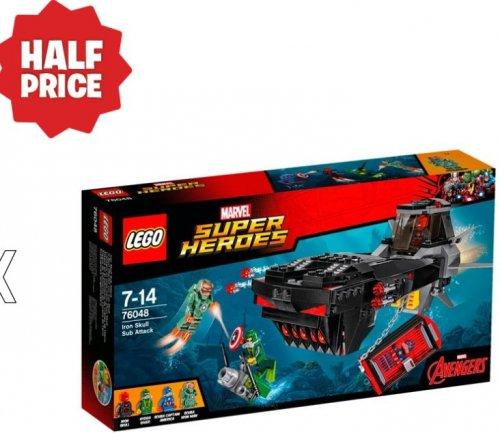 LEGO Marvel Super Heroes Iron Skull Sub Attack 76048 £14.99 smythstoys