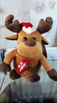 Singing Light Up Christmas Reindeer £2.99 in store @ Iceland