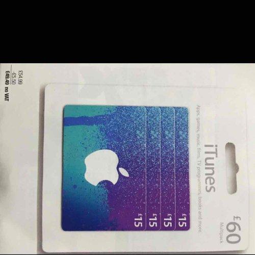 £60 worth of ITunes cards @ Costco instore - £49.49