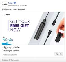 Anker are giving away FREE mobile charging packs via FB need FB account