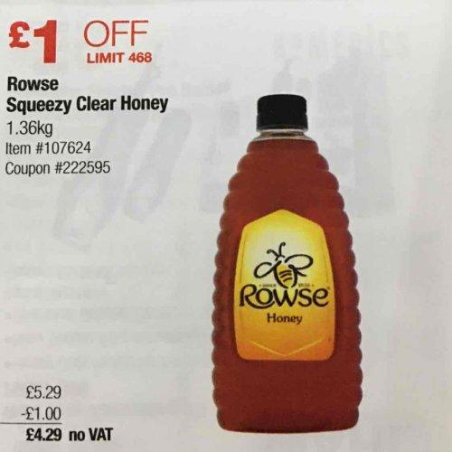 Rowse Honey 1.36kg for £4.29 no vat @ Costco