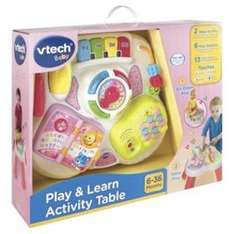 Vtech Baby Play & Learn Activity Table - Pink & blue was £49.99 now £24.99 @ tesco direct and sold by The Entertainer
