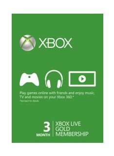 Xbox Live 3 Months Subscription Instant Delivery £9.85 @ Simply Games PLUS 99p Quidco Cashback