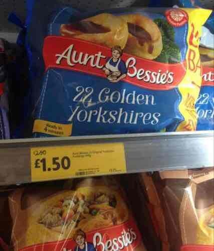Aunt Bessie's 22 Golden Yorkshire Puds £1.50  @ Morrisons Online & In store