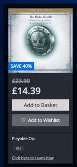 The Elder Scrolls Online: 4 DLC pack £14.39 PSN