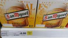 12 x 330ml bottles San Miguel reduced to clear at £6.00 at Tesco instore