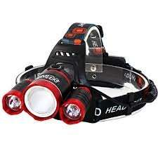 EMIDO 4 Modes LED Headlamps 3 CREE XM-L T6 LED Headlamp LED Flashlight £12.99 (Prime) / £16.98 (non Prime)  Sold by JUNKEHAI and Fulfilled by Amazon.