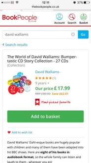 David Walliams 8 Audio Books (27 CDs) Collection @ The Book People only £13.49 with free delivery