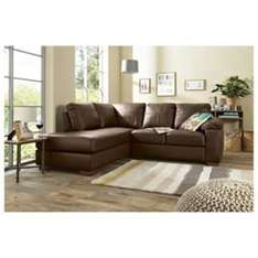 Ashmore Leather Corner Sofa Brown Left Hand Facing £336.75 at Tesco Direct with code