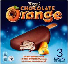 Terry's Chocolate Orange Ice Cream (3 on sticks) / Oreo Ice Cream (3 on Sticks) / Daim Ice Cream (3 on Sticks) was £2.43 now £1.00 @ Morrisons