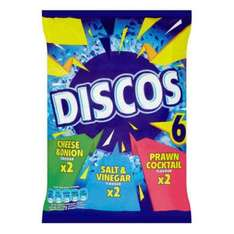 25P 6pk of discos YES 25p that's 4P a bag @ poundstretcher
