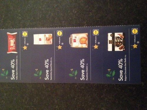 Money saving vouchers in LIDL Christmas magazine (pick up instore)
