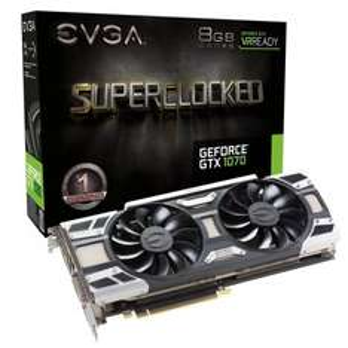 EVGA GeForce GTX 1070 Super Clocked Gaming ACX 3.0 8GB GDDR5 £419.99 @Ebuyer