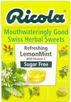 Ricola Mouthwateringly Good Swiss Herbal Sweets Sugar Free Refreshing Lemon or Tasty Cranberry (45g) was £1.31 now 65p @ Morrisons