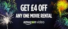 £4 Off One Movie Rental (or potentially free) from Amazon Video