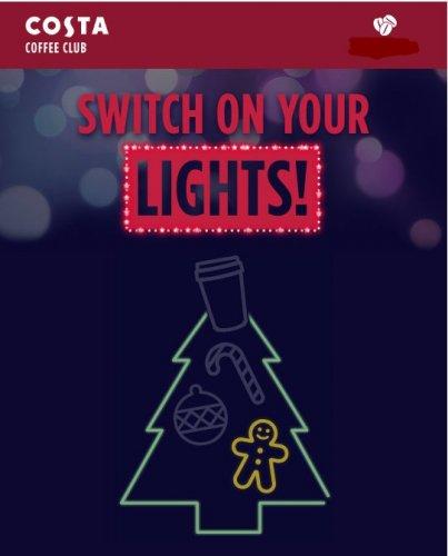 Costa Switch On Your Lights Bonus Points 18Nov-25Dec