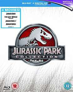 Jurassic Park 1-4 Blu Ray Collection £10.39  @ Amazon (free del with prime/£20 spend or add £1.99)