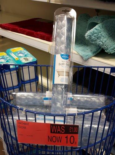 Anti-Slip in-bath mat @ B&M Romford £0.10