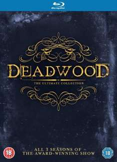 Deadwood - The Complete Collection [Blu-ray] [Region Free] £11.79 Prime or £13.78 non prime  @ amazon.co.uk