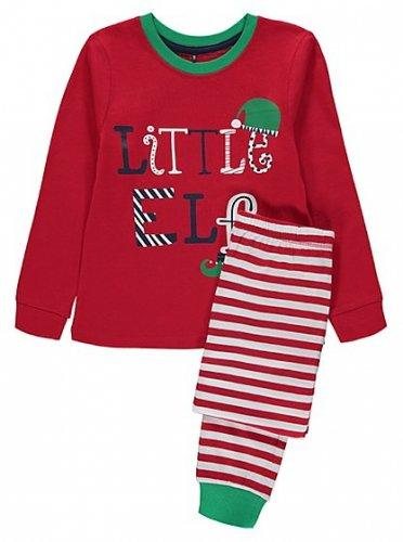 Kids Little Elf Christmas Pyjamas £5 @ Asda Direct (George)