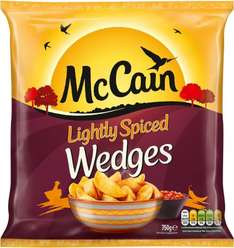 McCain Lightly Spiced Wedges (750g) was £1.50 now £1.00 / McCain Smiles (454g) Only £1.00 @ Iceland