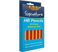 24 HB Eraser Tipped Pencils 0.09p At Argos