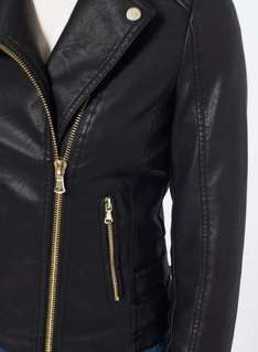 Black Elsy Faux Leather Biker Jacket reduced from £49 to £30 today only at Miss Selfridge.  Plus £10 off £50 spend using code LOOK10.