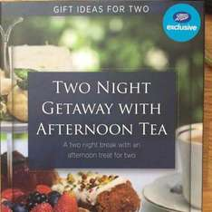 two night getaway hotel and afternoon tea gift instore @ Boots - £99