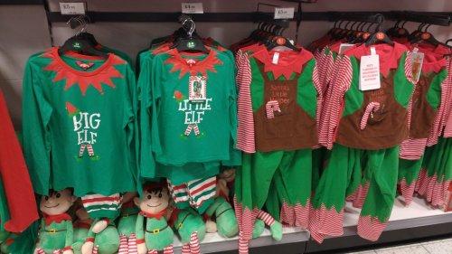 Kids Elf/Santa's Helper PJs from £4.99 @ HomeBargains instore