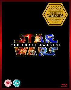 Star Wars: The Force Awakens (Limited Edition Dark Side Artwork Sleeve) [Blu-ray ] Amazon for £9.79 (Prime or add £1.99)