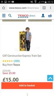 Kids tesco direct CAT train set at Tesco Direct for £15