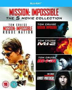 Mission: Impossible 1-5 Complete Box Set (Blu-ray) £11.99 (Prime) £13.98 (with P&P) @ Amazon