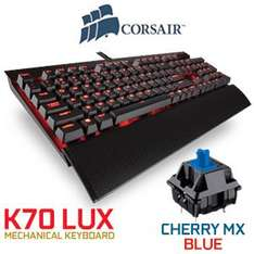 Corsair K70 LUX - MX blues dropped by 15 quid today £80.99 @ Amazon
