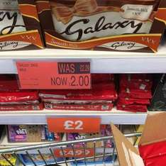 galaxy chocolate 390g Instore £2  @ B&M