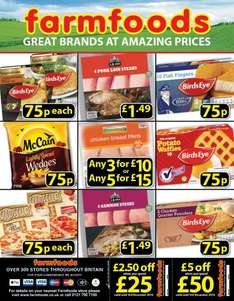 Farmfoods Offers from 75p