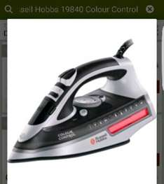 Russell Hobbs 19840 Colour Control Steam Iron was £59.99 now £19.99 @ argos c&c