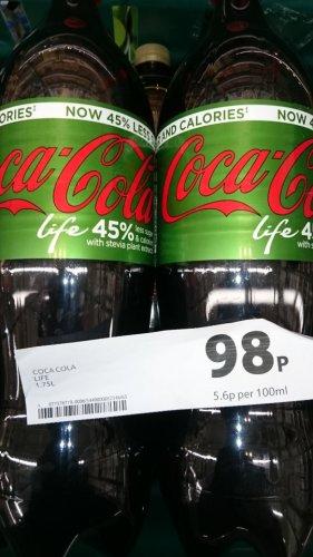 Coke Life 1.75L 98p Tesco instore