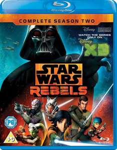 Star Wars Rebels Season 2 [Blu-ray] [Region Free] £9.99 or DVD £6.99 (+ delivery if not with Prime)