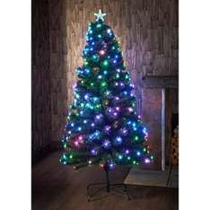 Pre lit led multi coloured  6ft Christmas tree @ B&M