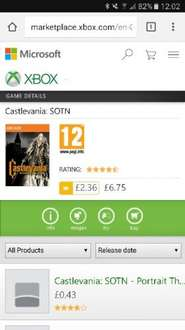 Castlevania SOTN deals with Gold £2.36 XBO/360