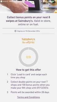 DOUBLE Nextar Points On Next 8 Swipes (FUEL & INSTORE)