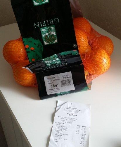 Price Glitch - 3kg of Navelina Oranges £1.07 @ Morrisons (Instore)