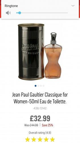 Jean paul gaultier womans classique 50ml - £32.99 @ Argos (Free C&C)